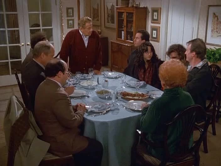festivus, festivus for the rest of us, frank costanza, happy festivus, holiday, seinfeld, The Festivus Dinner GIFs