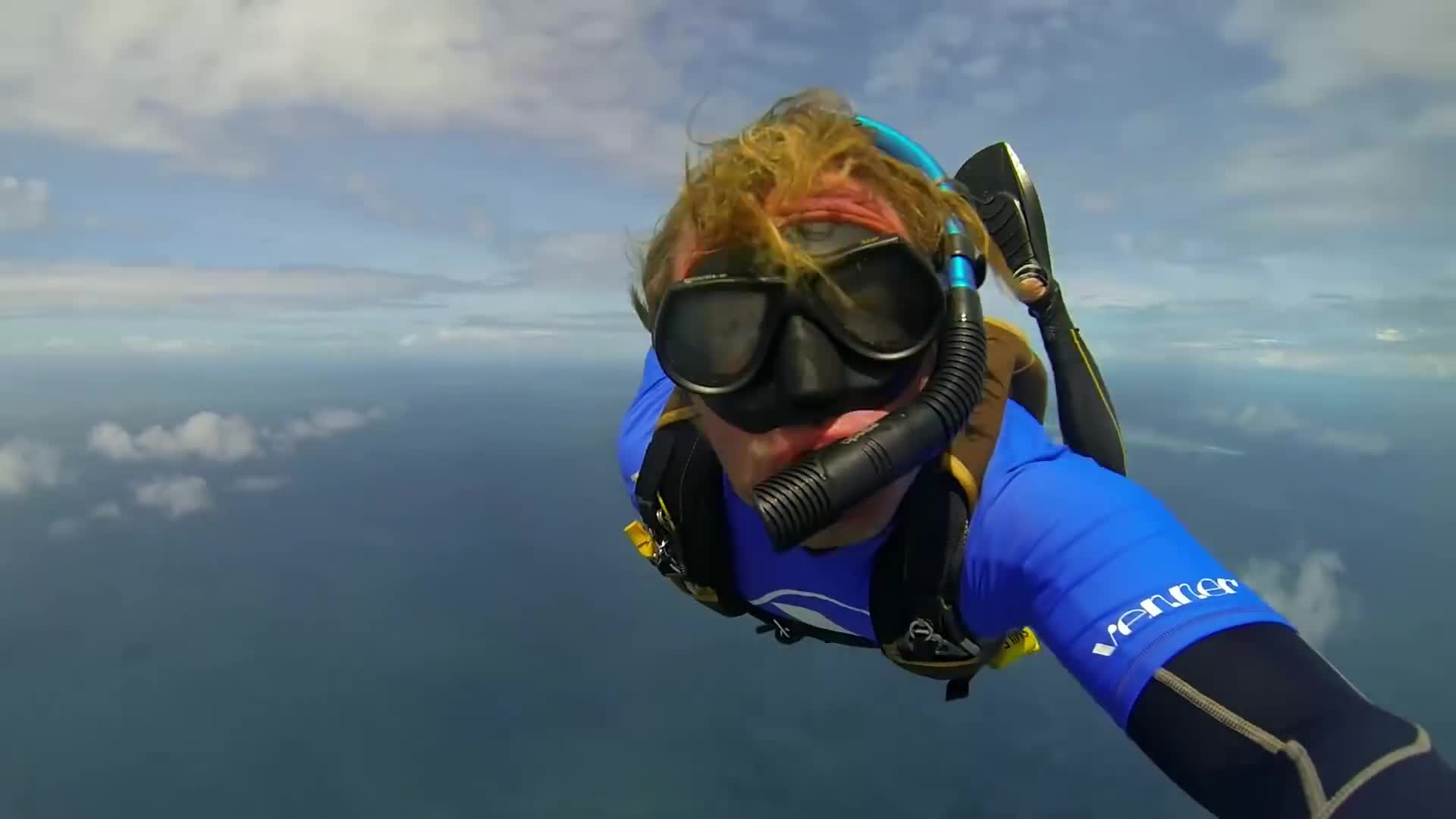 scuba diving, scuba skydiving, skydiving, Scuba Skydiving on the Great Barrier Reef in Tropical North Queensland GIFs