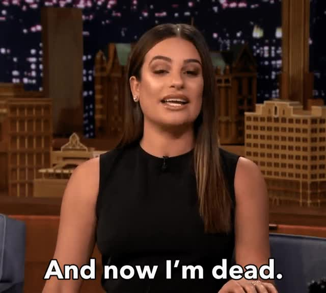 Watch this dead GIF by The GIF Smith (@sannahparker) on Gfycat. Discover more cant even, dead, lea michele, rip me, shook, tonight show, wig snatched GIFs on Gfycat