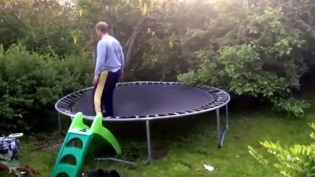 Watch Bouncing on my kid's trampoline, WCGW? GIF by @ammianusmarcellinus on Gfycat. Discover more Bush, Dad, whatcouldgowrong GIFs on Gfycat