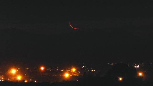 Watch and share Thin Crescent Moon GIFs and Letterbox Moonset GIFs by Peter Lowenstein on Gfycat