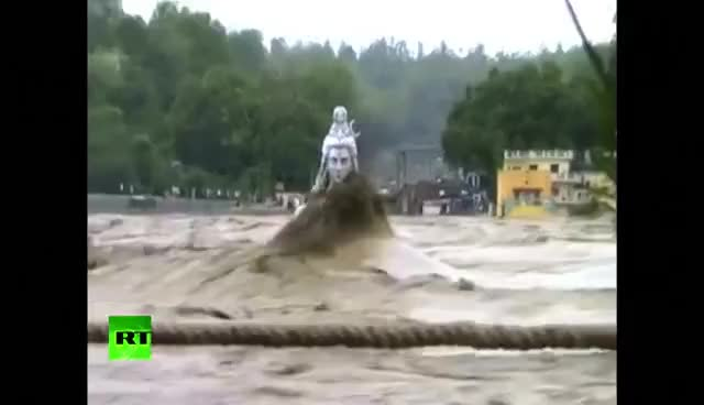 Watch and share Video: Ground Crumbles Underfoot As Apocalyptic Floods Sweep India GIFs on Gfycat
