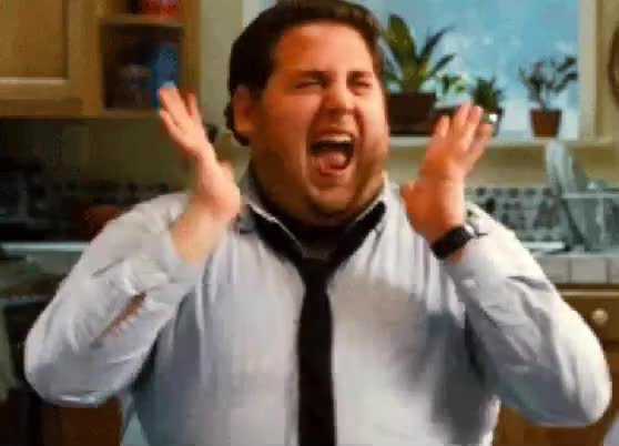 awesome, celebrate, excited, funny, great, happy, jonah hill, perfect, scream, woohoo, yell, Woohoo GIFs