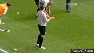 Watch and share Edin Dzeko Making Fun Of Mario Balotelli ;-) GIFs on Gfycat