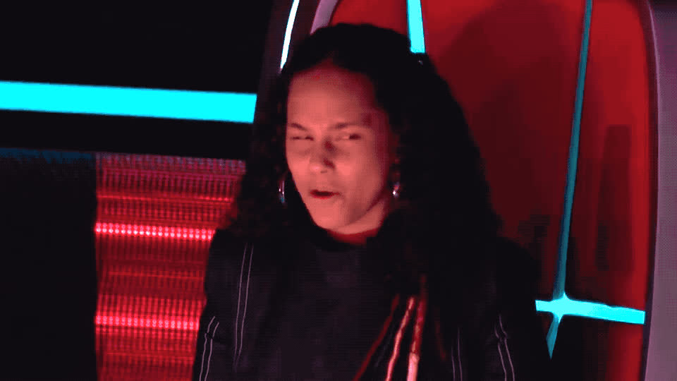 alicia, amazing, awesome, battle, britton, buchanan, jaclyn, keys, loud, lovely, nevermind, no, out, the, thinking, voice, words, wow, Alicia Keys - Wow GIFs