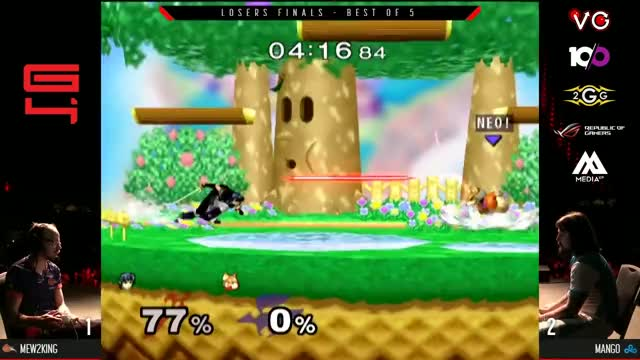 Genesis 4 SSBM - FOX MVG Mew2king (Marth) Vs. C9 Mango (Fox, Falco) Smash Melee Losers Finals