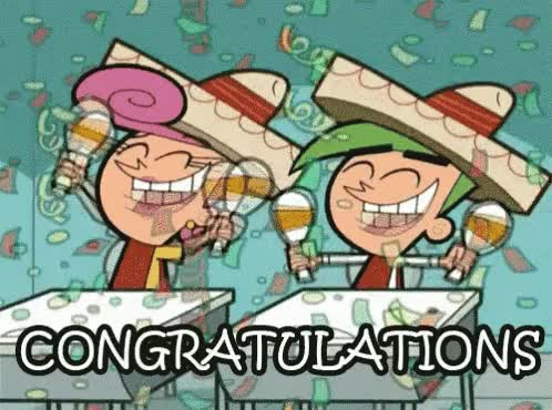 Watch and share Congratulations GIFs and Congrats GIFs on Gfycat