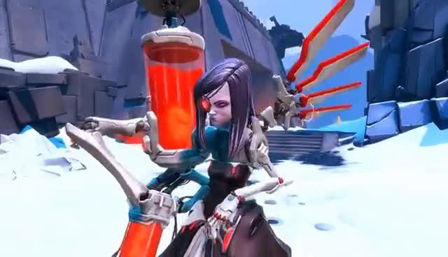 Battleborn: Beatrix Skills Overview GIFs