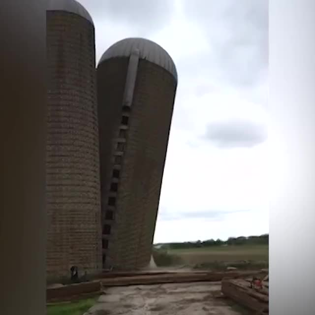 Watch and share Silo Looks Like It's Falling Into Water GIFs by Jackson3OH3 on Gfycat