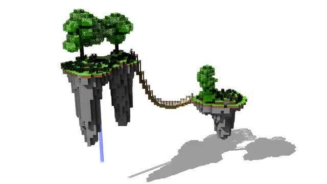 Watch and share Minecraft Floating Island GIFs by todarac on Gfycat