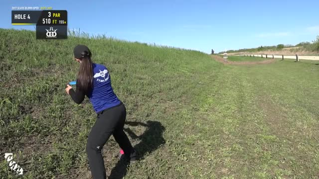 Watch 2017 Glass Blown Open - Jen Allen throw in birdie - Round 1 Hole 4 GIF by Ultiworld Disc Golf (@ultiworlddg) on Gfycat. Discover more disc, disc golf, tournament GIFs on Gfycat