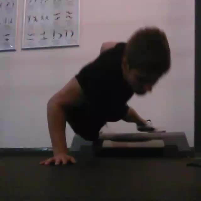 bodyweightfitness, Feet elevated one arm pushups 3-10-15 GIFs