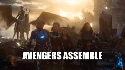 Watch and share Women-Avengers-Assemble---Endgame GIFs on Gfycat