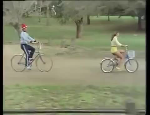 Watch and share Woman Cycling Yellow GIFs on Gfycat