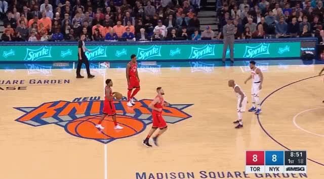 Watch and share Lowry DeRozan Knicks 2nd GIFs by blakemurphyodc on Gfycat