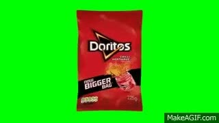 Watch and share Green Screen Spinning Doritos Chip Packet GIFs on Gfycat