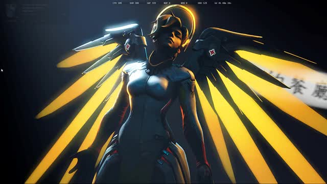 Watch Mercy GIF by @fall3n001 on Gfycat. Discover more mercy, overwatch, rainmeter GIFs on Gfycat