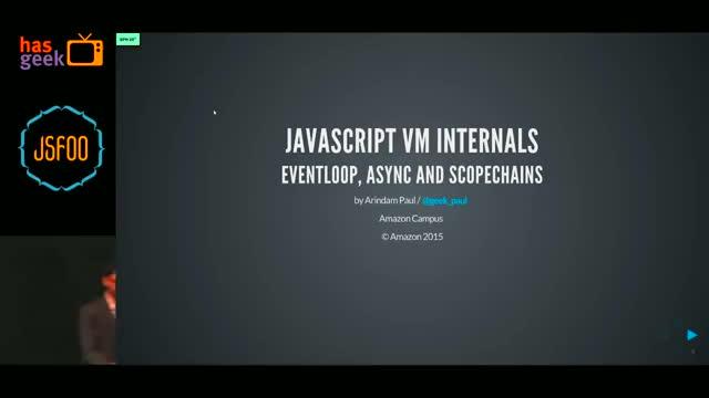 Watch Arindam Paul - JavaScript VM internals, EventLoop, Async and ScopeChains GIF by Jin (@banhmihytran) on Gfycat. Discover more Angular, Apps, Fragments, HasGeek TV, JavaScript, Meteor, NodeJS, React, ReactFoo, Vue, animation, frameworks, hasgeek, jsfoo, performance, scale, script, security, tasks GIFs on Gfycat