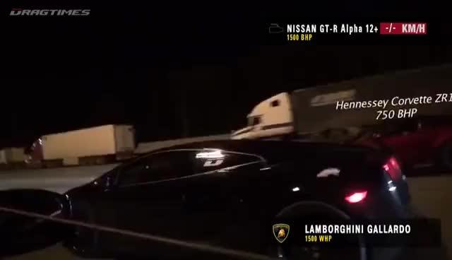 Lamborghini Gallardo Ur Tt Vs Nissan Gtr Ams Alpha 12 360 Km H