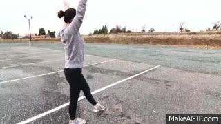 Watch and share How To Do An Aerial | Cartwheel With No Hands | Monica Miyagi (Miyagi Gymnastics, Auburn) GIFs on Gfycat