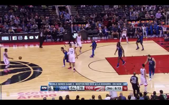Watch and share Dallas Mavericks GIFs and Toronto Raptors GIFs by louiszatzman on Gfycat