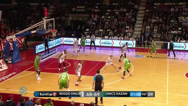 Watch Highlights: Grissin Bon Reggio Emilia - Unics Kazan GIF on Gfycat. Discover more 2017-18 season, 7DAYS, 7DAYS EuroCup, Basketball, EuroCup, European Basketball, Grissin Bon Reggio Emilia, Highlights, Round 4, Top 16 GIFs on Gfycat