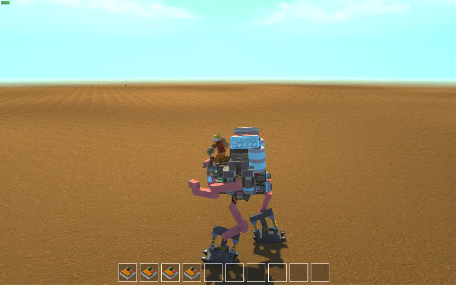 ScrapMechanic, scrapmechanic, Managed to make a bipedal walker that can actually run! (reddit) GIFs