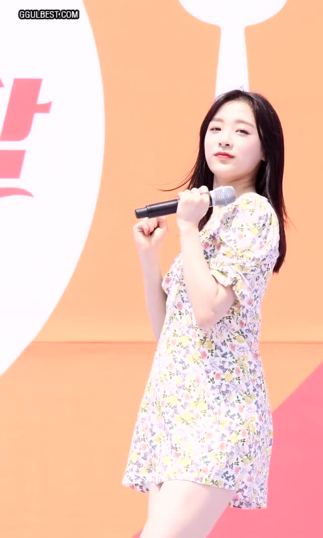 Watch and share April (APRIL) Jinsol Floral Dress .gif GIFs by 짤티비 JJTV.KR on Gfycat