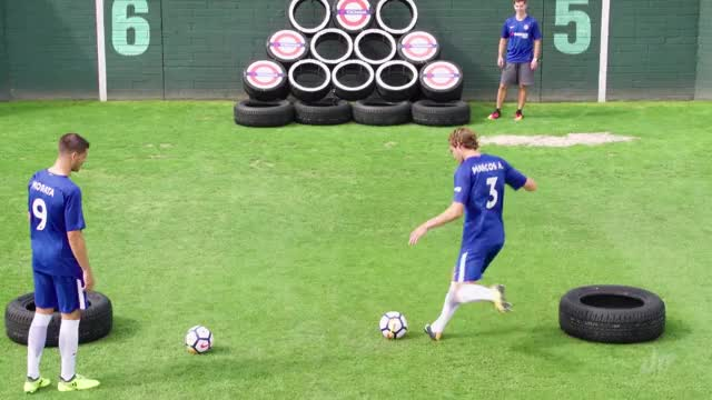 Watch and share Soccer Trick Shots Ft. Chelsea F.C. | Dude Perfect GIFs on Gfycat