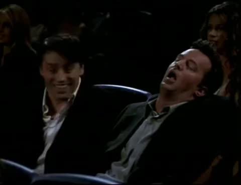 Watch chandler falls asleep GIF on Gfycat. Discover more chandler, friends, sleep GIFs on Gfycat
