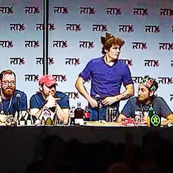 Watch Porn!!!  GIF on Gfycat. Discover more gavin free, god bless america, michael jones, roosterteeth, rtedit, rtx 2015, ryan haywood, © GIFs on Gfycat