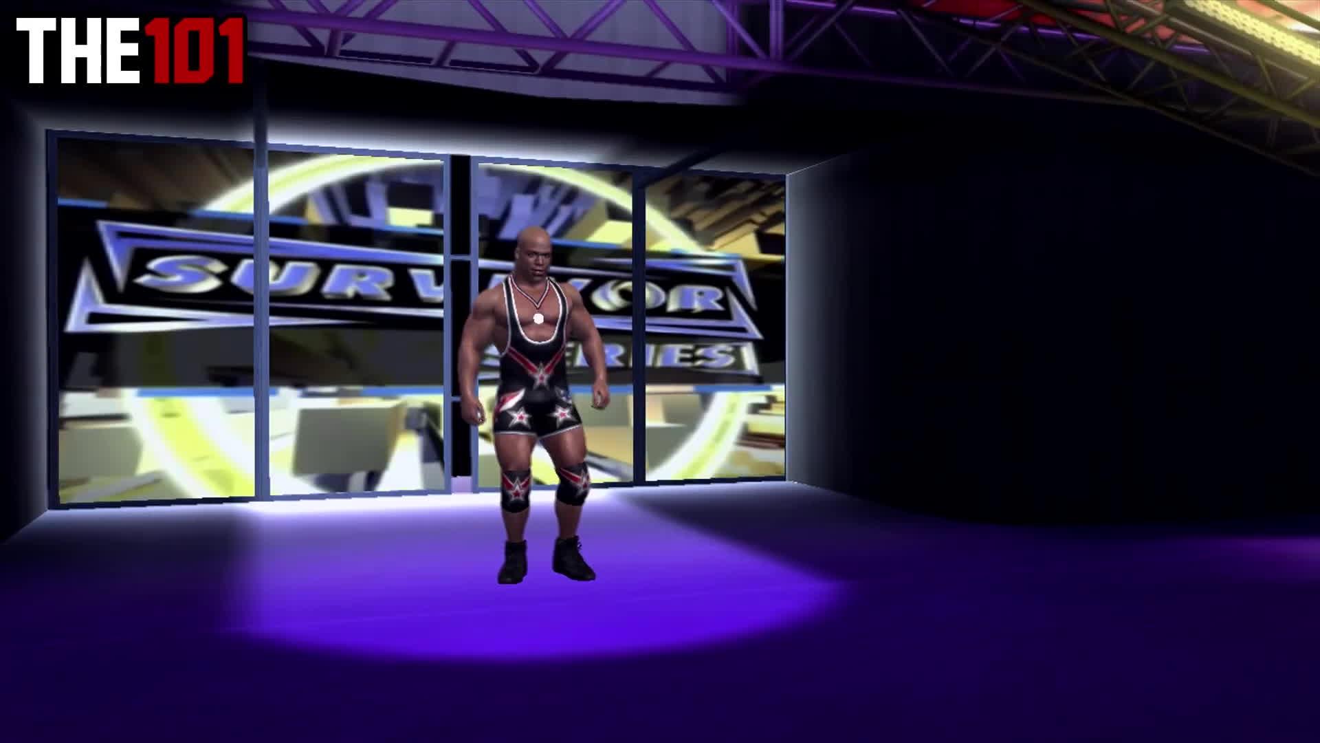 entrance evolutionkurt angle, wwegames, wwf, History Of Kurt Angle In WWEGames - Kurt Angle Entrance Evolution! (Smackdown 2 - SVR 2007) GIFs
