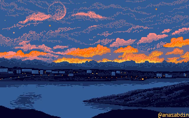 Watch and share I Drew This Pixel Art Cityscape Using 7 Colors [OC] animated stickers on Gfycat