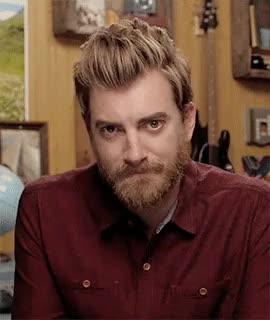 Watch and share Rhett Mclaughlin GIFs and Button Up GIFs on Gfycat