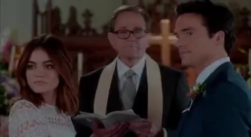 "Watch Pretty Little Liars 7x20 ""Ezra and Aria Get Married Scene, and Final Liars Scene 😢"" GIF on Gfycat. Discover more related GIFs on Gfycat"