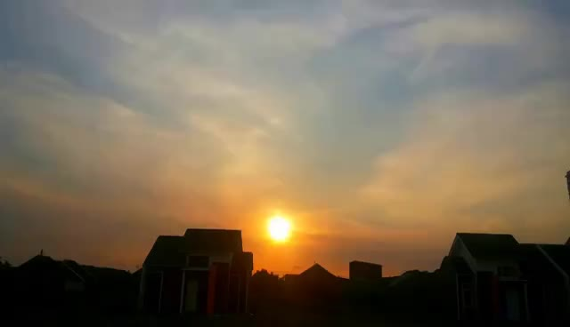 dusk, nature, sun, sunny, sunset, timelapse sunset / matahari terbenam GIFs