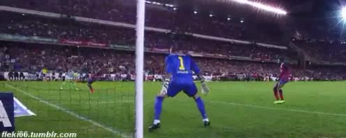 Watch and share Victor Valdes GIFs and Fc Barcelona GIFs on Gfycat