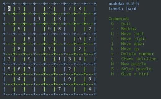 Game Terminal Linux Nudoku GIFs