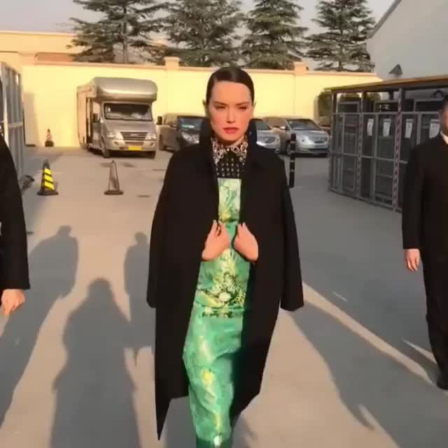 Mai Quynh, daisyridley, hair, makeup, makeupbymaiquynh, starwars, styling, thelastjedi, #daisyridley on her way to the last red carpet for @starwars @samanthamcmillen_stylist #hair @robertvetica #makeup by me @cscoxall GIFs