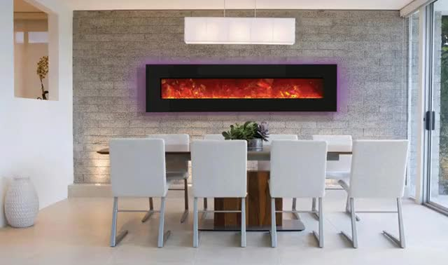 Watch and share Electric Fireplace Dining Backlit Purp GIFs by The Original Flame on Gfycat