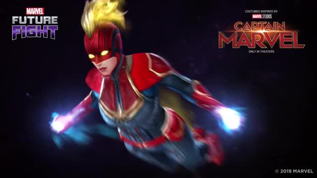 [MARVEL Future Fight] v4.8.0 Captain Marvel new uniform twice sleepy peace ok oh my girl netmarble kpop jihyo hi hairflip good luck gaming funny fml dumb deal with it dance cute celebs brie larson GIF