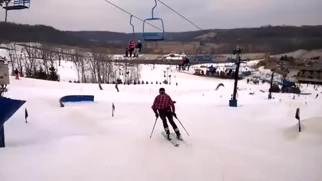 Watch and share Skier Highfiving A Chair Lift Passenger GIFs by tothetenthpower on Gfycat