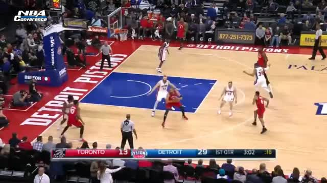 Watch and share Toronto Raptors Vs Detroit Pistons - Full Game Highlights | April 5, 2017 | 2016-17 NBA Season GIFs on Gfycat