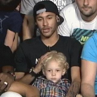 davi, davi lucca, fc barcelona, neymar, neymar jr, Neymar & Davi Lucca GIFs