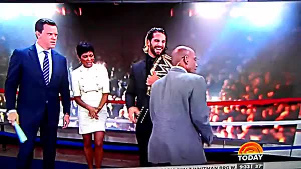 Watch World Heavyweight Champion Seth RollIns On The Today Show (reddit) GIF by @barstoolsnate on Gfycat. Discover more related GIFs on Gfycat