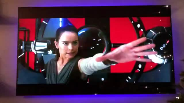 Watch and share Rey With Kylo's Lightsaber GIFs by ninthworld on Gfycat