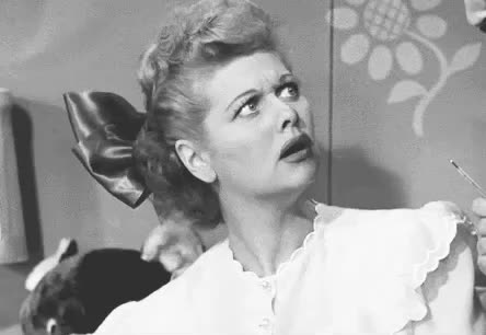 disgusted, dumb, ew, fool, idiot, lucille ball, lucy, stupid, surprised, wait, what, Funny Lucy GIFs