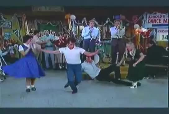 Fonzie, dancing, fonzie, happy days, henry winkler, Happy Days - Fonzie's kick ass dance GIFs