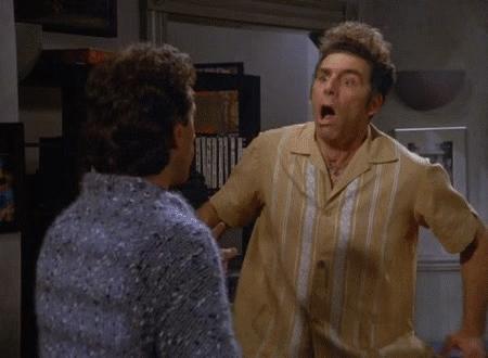 amazed, amazing, holy cow, no way, whoa, woah, wow, Kramer is Amazed GIFs