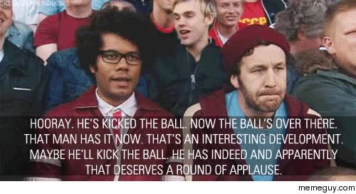 Watch MRW football season mania starts back up in my city GIF on Gfycat. Discover more chris o'dowd, richard ayoade GIFs on Gfycat